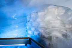 Glacier cave tunnel at Mount Titlis Royalty Free Stock Image