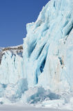 Glacier close-up. Front of a glacier ending against pack ice Stock Images