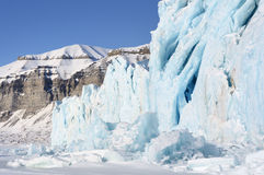 Glacier close-up Stock Photography