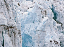 Glacier Closeup, Glacier Bay Alaska. Closeup view of a glacier, in Glacier Bay National Park Alaska,  revealing the details of the texture and strucure of the Royalty Free Stock Photo