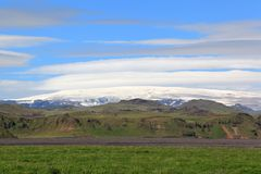 Glacier and Cloud Formation, Iceland Stock Photo