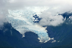 Glacier in the clouds Stock Photography