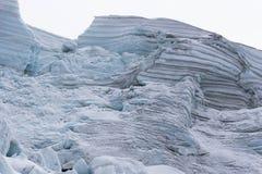 Glacier. A glacier in the Cordillera Blanca up close and in detail Stock Photo