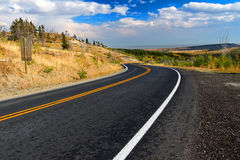 Glacier County Montana Roadway fotografia de stock