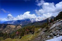Glacier-covered mountain ridge Stock Photo