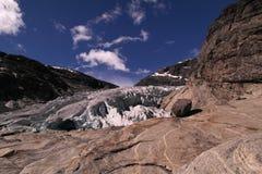 Glacier cracks Stock Images