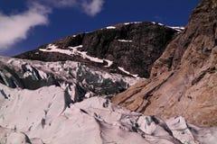 Glacier cracks Stock Photos