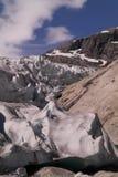 Glacier cracks Stock Image