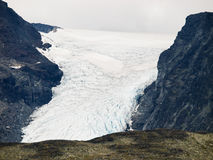 Glacier with crevasses Royalty Free Stock Photos