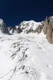 Glacier with crevasses Stock Images