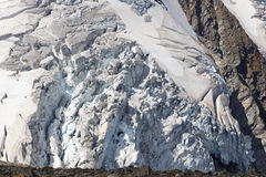 Glacier with crevasses at Grossvenediger, Hohe Tauern Alps, Austria Stock Photography