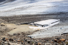 Glacier with crevasses at Grossvenediger, Hohe Tauern Alps, Austria Royalty Free Stock Photography
