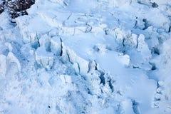 Glacier crevasses near Matterhorn, Switzerland. Stock Image