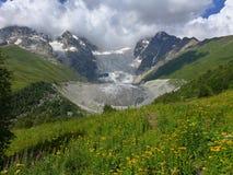 Glacier d'Adishi, Caucase géorgien Images libres de droits