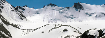 Glacier d'Adygene Photographie stock