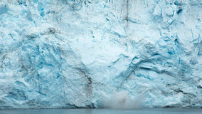 Glacier d'Alaska de vêlage Images libres de droits