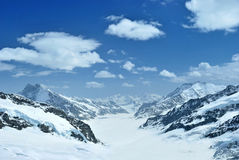 Glacier d'Aletsch Photo libre de droits