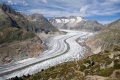 Glacier d'Aletsch Photos libres de droits