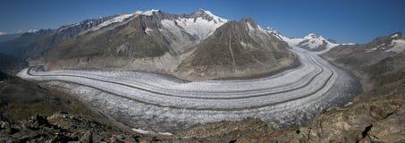 Glacier d'Aletsch, Alpes suisses Images libres de droits