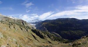 Glacier d'Aletsch de panorama Photo stock