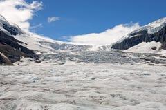 Glacier d'Athabasca dans les Rocheuses canadiennes Photographie stock