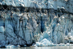 Glacier d'eau de marée de Margerie dans la baie de glacier, Alaska images libres de droits