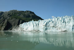 Glacier d'eau de marée en parc national Alaska de baie de glacier photo libre de droits
