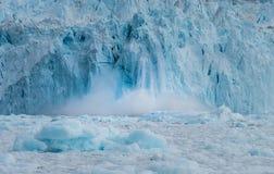 Glacier d'Eqi de vêlage, baie de Disko, Groenland Photos libres de droits