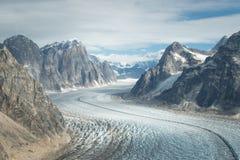 Glacier dans Denali (le mont McKinley) Photos libres de droits