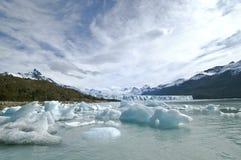 Glacier dans le Patagonia Photographie stock libre de droits