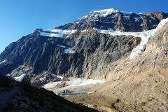 Glacier dans le support Edith Photos stock