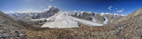 Glacier dans le Tadjikistan photographie stock
