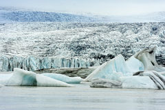 Glacier de Breidarlon, Islande Images libres de droits