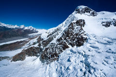 Glacier de Breithorn Photographie stock