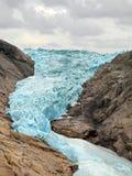 Glacier de Briksdal Image libre de droits