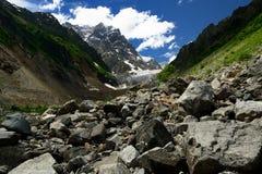 Glacier de Chalaadi, la Géorgie Images libres de droits