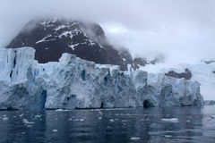 Glacier de compartiment de paradis de l'Antarctique Image libre de droits
