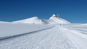 Free Glacier De Diablerets Summit Station And Ski Slope Stock Photos - 47180113