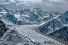 Glacier de Fedchenko dans le Tadjikistan image stock