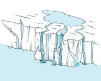 Glacier de fonte de calotte glaciaire Photo stock