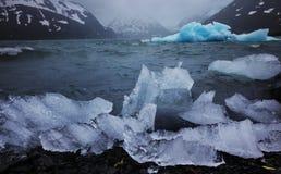 Glacier de fonte en Alaska Photos libres de droits