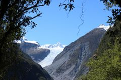Glacier de Fox, Te Moeka o Tuawe, Nouvelle-Zélande image libre de droits