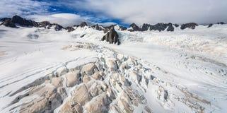 Glacier de Franz Josef de première vue Photographie stock libre de droits
