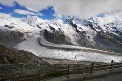 Glacier de Gorner Photos stock