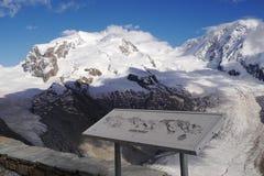 Glacier de Gorner Photographie stock