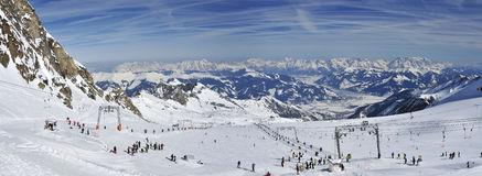 Glacier de Kitzsteinhorn Images stock