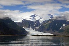 Glacier de l'Alaska Photo stock