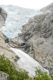 Glacier de la Norvège - du Briksdal - parc national de Jostedalsbreen Images stock