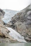 Glacier de la Norvège - du Briksdal - parc national de Jostedalsbreen Photographie stock