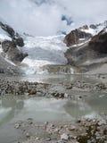 Glacier de Laguna d'Illampu Photo stock